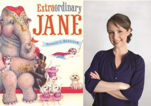 The author Hannah Harrison with her book Extraordinary Jane